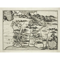 Kircher 1679 Map Mount Ararat Noah Bible Flood Canvas Wall Art Print Poster