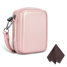 For Fujifilm Instax Mini LiPlay Camera Case Carrying Bag with Strap - Rose Gold