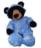 "8"" BLUE SNOWMAN ALL-IN-ONE PJ - TEDDY BEAR CLOTHES FITS 8"" /20cm TEDDY BEARS"