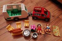 LEGO DUPLO VILLE CARAVAN & CAR SET 5655 LOVELY CONDITION 2 FIGURES FURNITURE