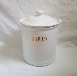 SALE ❀ڿڰۣ❀ VINTAGE RETRO Inspired GLACIER ICE WHITE Ceramic BREAD CROCK / BIN ❀