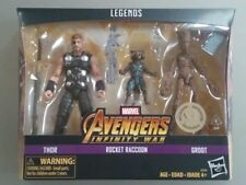 "Marvel Legends Infinity War 3-Pack THOR, ROCKET RACCOON, & GROOT Toys""R""Us RARE"