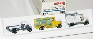 """Märklin H0 1889 Wagen-Set """"Oldtimer Lieferwagen"""" OVP AS20117"""