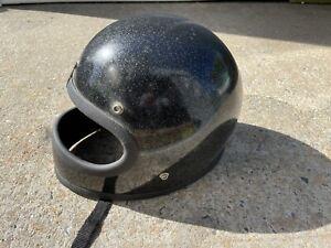 Vintage Metal Flake Motorcycle Helmet Chopper Bobber Moto3 Bell