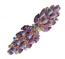 VIOLET RAINBOW perles LARGE STRASS PAPILLON Barrette de cheveux accessoires