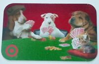 Target Gift Card - Bullseye / Dogs Playing Poker w/ Felt Texture 2005 - No Value