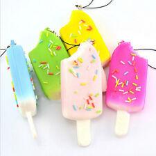New Soft Kawaii Squishy Toy Squishies Mini Ice Cream Keychain Charm Straps 1 pcs
