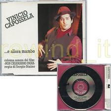 """VINICIO CAPOSELLA """"...E ALLORA MAMBO"""" RARO CDsingolo PROMO 3 BRANI OST"""