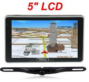 "5"" GPS Navigator bluetooth FM   wireless backup camera SUV Van truck IR Color"