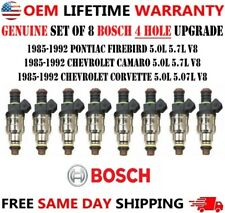 4 Hole Upgrade Oem Bosch X8 Fuel Injectors For 1985 92 Pontiac Amp Chevy 5057l