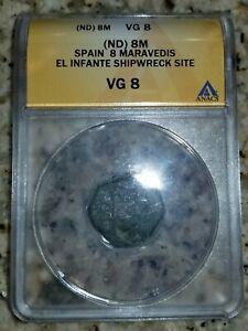 8 Maravedis From 1733 Fleet Shipwreck El Infante