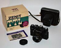 "1981 RUSSIAN USSR ""ZENIT-TTL"" camera + HELIOS-44M lens, BOXED SET (3)"