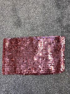BNWOT Miss Selfridge Size 10 Pink Sequin Bandeau Top Boob Tube / Ibiza Rave