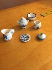 Doll House Kitchen or Dining Room Table Miniatures Accessories (6) pcs Vtg GB8