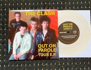 """The Clash – Out On Parole Tour E.P. RARE CLEAR VINYL 7"""" Near Mint! PUNK"""