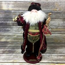2006 Old World Santa Collection Santa Figure Wood Base Christmas Decor Holidays