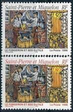 STAMP / TIMBRE SAINT PIERRE ET MIQUELON NEUF N° 628 ET 629 METIER / LE FORGERON