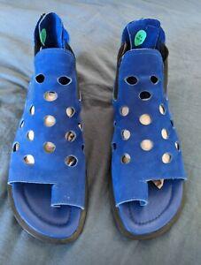 ARCHE royal blue suede shoes/sandals - UK 4 4.5