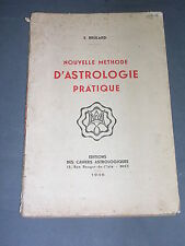 Astrologie E. Brûlard méthode d'astrologie pratique Cahiers astrologiques 1946