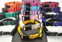 Adjustable Cushion Dog Collars 16 Colours Strong Durable Small Medium Large