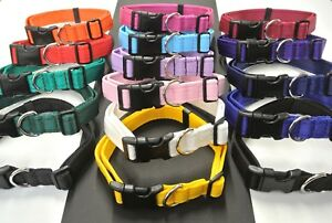 Dog Collar Adjustable Strong Durable Cushion In Small Medium Large 16 Colours