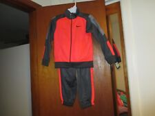 NIKE BOY'S 2-PC JOGGING SUIT ANTHRACITE/CRIMSON SIZE 6 100% POLYESTER