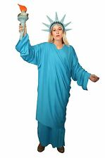 Unisex Statue Of Liberty Costume American Sculpture Fancy Dress USA