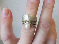 Schöner, ausgefallener Ring   , 925 Silber mit Perle  !