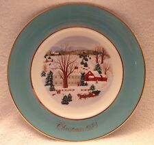 Christmas On The Farm,Avon,Limited Edition,1973,Collector Plate,Wedgwood