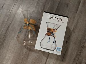 TOMS Chemex CM-8A Pour Over 8 Cup Glass Coffeemaker - Limited Edition
