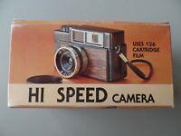 Vintage Hi Speed Camera Uses 126 Cartridge Film Instructions and Box Hong Kong