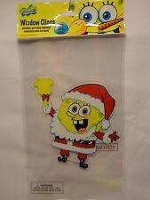 "Set of 5 SpongeBob Square Pants Nickelodeon Window Clings Cling on  7"" Christmas"