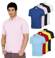 Uneek Jersey Polo Shirt 100% Cotton Plain Tee Unisex Top (UC122)