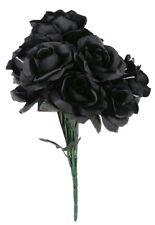 Black Rose Bouquet Black Fake Dead Flowers