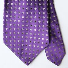Jos A Bank Signature Collection Purple Yellow Blue Floral Tie 100% Silk Italy