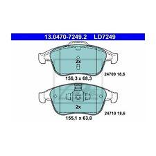 ATE 13.0470-7249.2 Bremsbelagsatz, Scheibenbremse ATE Ceramic   Renault