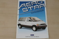 184599) Ford HFX Ghia Aerostar Prospekt 09/1987