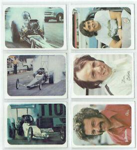 Trading cards DRAG RACING 1970s Fleer AHRA Cars & Drivers Greek Carbone Cochran