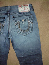 TRUE RELIGION Men's RAINBOW RICKY BIG T 36 x 31 Dark Bravo wash Super Jeans