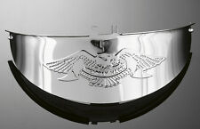 CHROME HAWK 7 INCH (180mm) MOTORCYCLE HEAD LIGHT VISOR / PEAK (66-055)