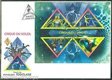 Togo 2013 Cirque Du Soleil Sheet First Day Cover