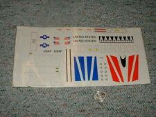Estes decals 91006 Usaf United States etc F73