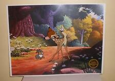 Animated Ltd Edition Serigraph Cel Walt Disney Bambi Sericel with Background