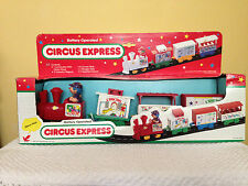 Battery Operated Circus Express Train with Track - Vintage