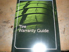 2011 FORD MUSTANG EXPLORER EXPEDITION ESCAPE F150 F250 TIRE WARRANTY MANUAL SUPP