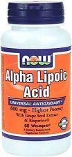 Alpha Lipoic Acid 600 mg 60 Veg Capsules - NOW Foods