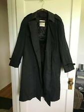 LONDON FOG Trench Coat, Men Size 40 Regular, Black