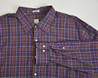 Peter Millar Mens size XXL Casual Button Down Long Sleeve Top Shirt Plaid