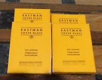 LOT OF 4 NOS BOXES OF 12 SLIDES EACH-EASTMAN KODAK COVER GLASS FOR GLASS SLIDES