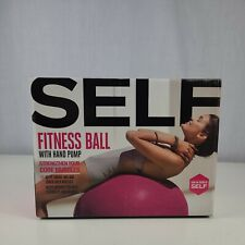 Self Fitness Ball With Hand Pump Pink
